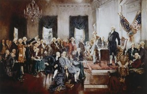 The drafting of the Constitution. The House of Representatives was designed to be a voice of the people.